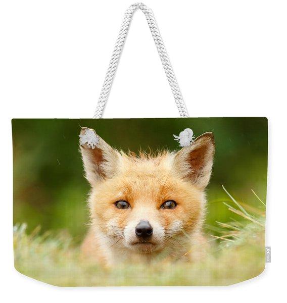 Bad Fur Day - Fox Cub Weekender Tote Bag