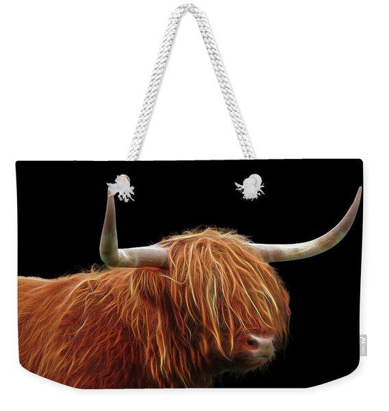 Bad Hair Day - Highland Cow - On Black Weekender Tote Bag