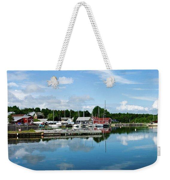 Baddeck Harbor Panorama Weekender Tote Bag