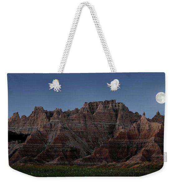Badlands Moon Rising Weekender Tote Bag