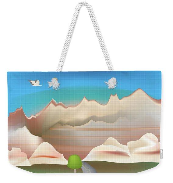 Badlands National Park Vertical Scene Weekender Tote Bag