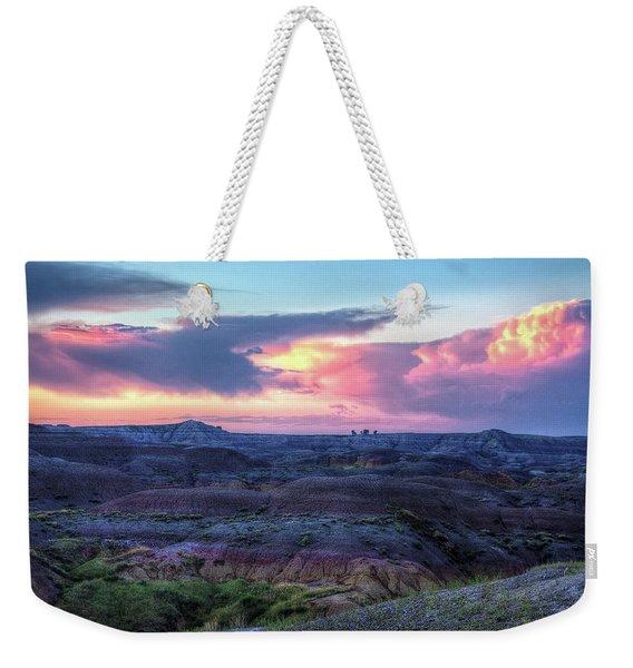 Badlands Sunrise Weekender Tote Bag