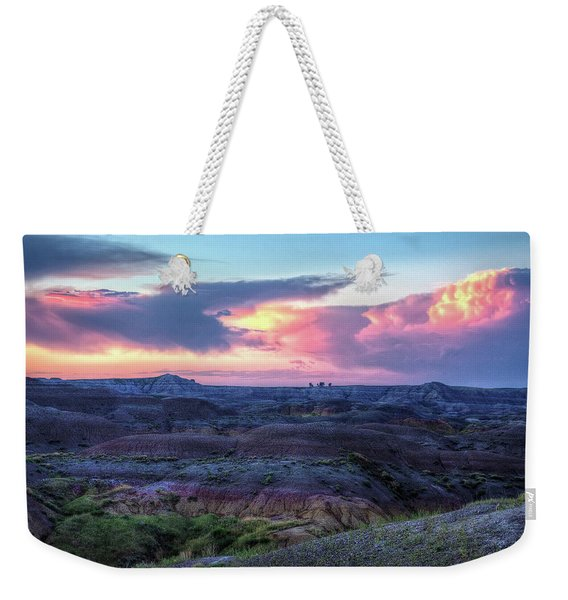 Badlands Sunrise Weekender Tote Bag