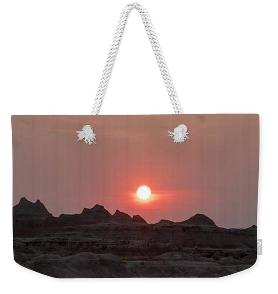 Badlands Sunset Weekender Tote Bag