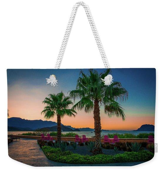 Baja Sunset Weekender Tote Bag