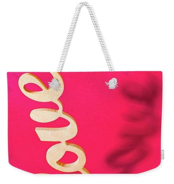 Balanced Love  Weekender Tote Bag