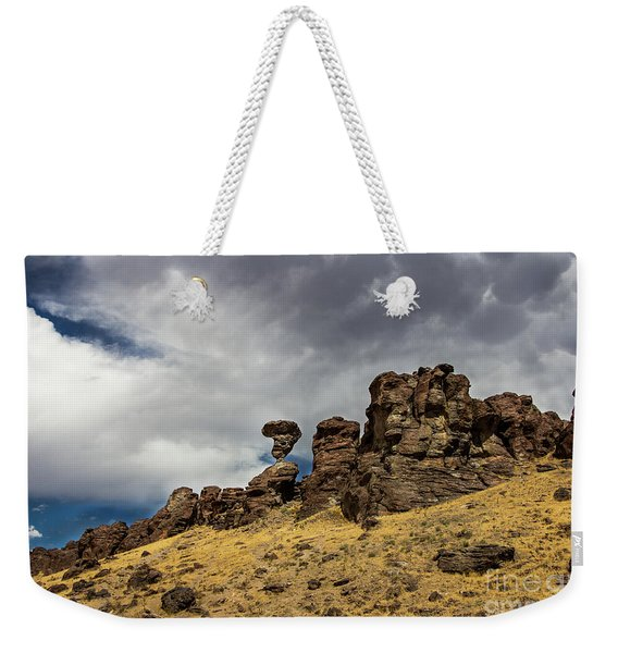 Balanced Rock Adventure Photography By Kaylyn Franks Weekender Tote Bag