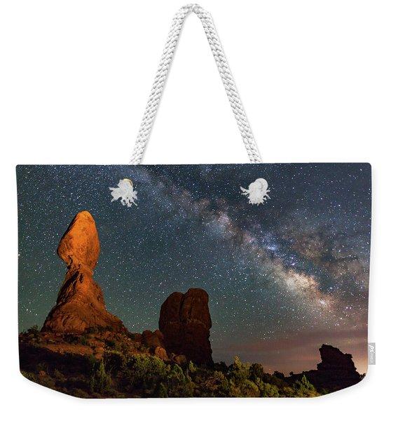 Balanced Rock And Milky Way Weekender Tote Bag