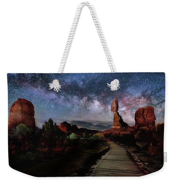 Balanced Rock Milky Way Weekender Tote Bag
