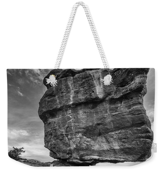 Balanced Rock Monochrome Weekender Tote Bag