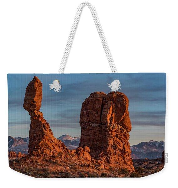 Balanced Rock Sunset Weekender Tote Bag