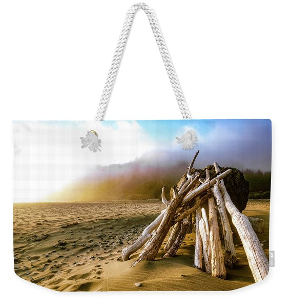 Balancing Act Beach Image Art Weekender Tote Bag
