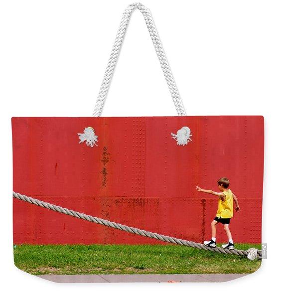 020 - Harbor Time Weekender Tote Bag