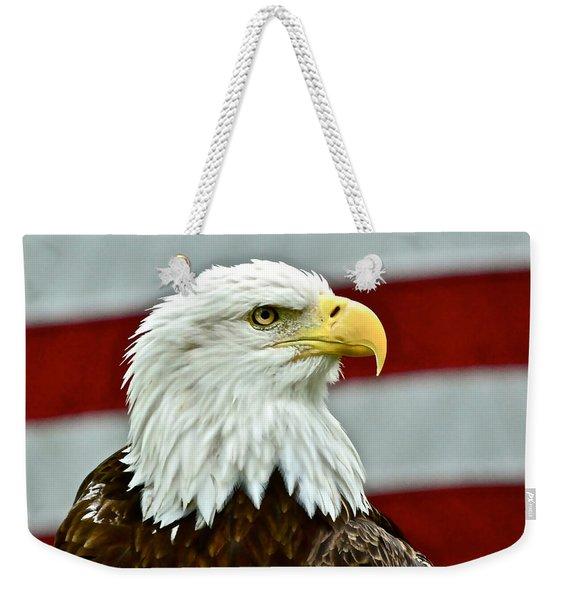 Bald Eagle And Old Glory Weekender Tote Bag