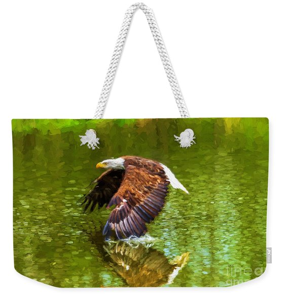 Bald Eagle Cutting The Water Weekender Tote Bag