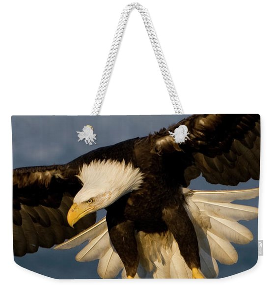 Bald Eagle In Action Weekender Tote Bag
