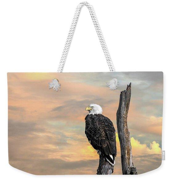 Bald Eagle Inspiration Weekender Tote Bag