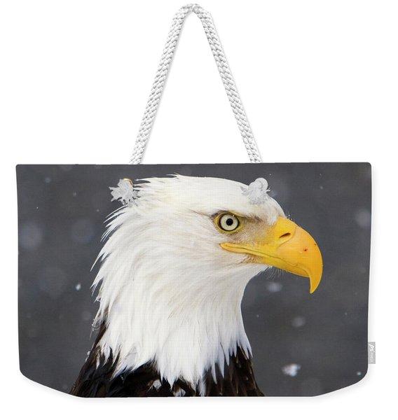 Bald Eagle Intensity Weekender Tote Bag