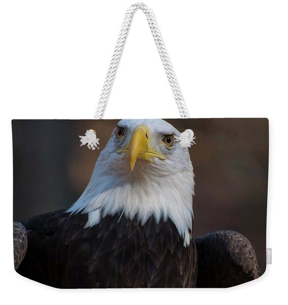 Bald Eagle Looking Right Weekender Tote Bag