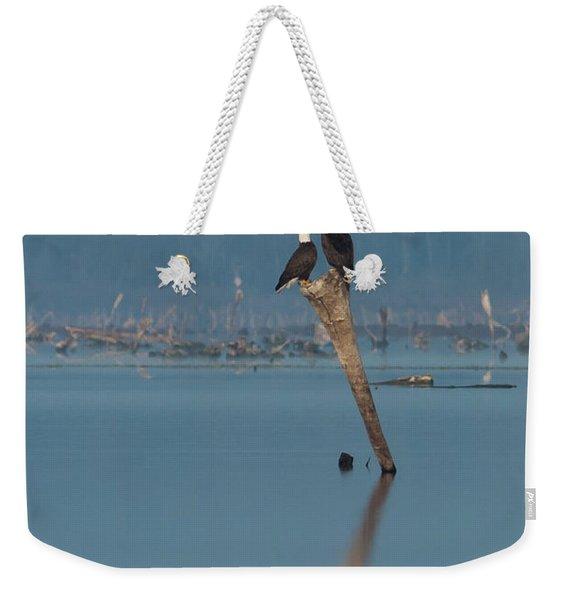 Bald Eagle Pair Weekender Tote Bag