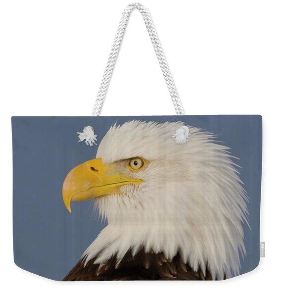 Bald Eagle Portrait Weekender Tote Bag
