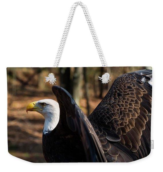 Bald Eagle Preparing For Flight Weekender Tote Bag