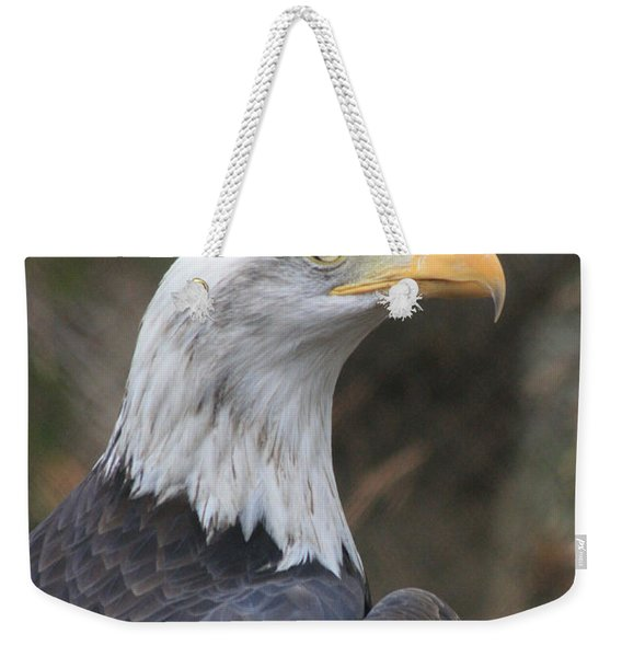Bald Eagle Profile Weekender Tote Bag