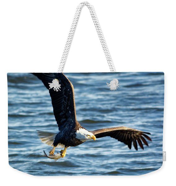 Bald Eagle With Fish Weekender Tote Bag