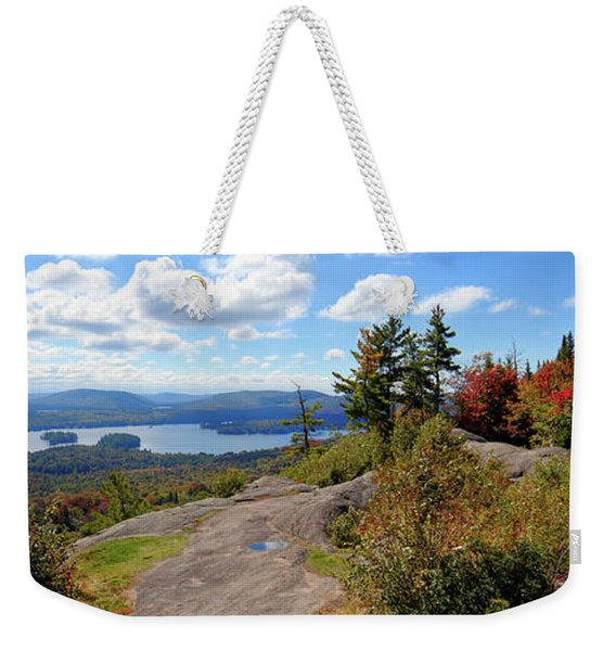 Bald Mountain Autumn Panorama Weekender Tote Bag