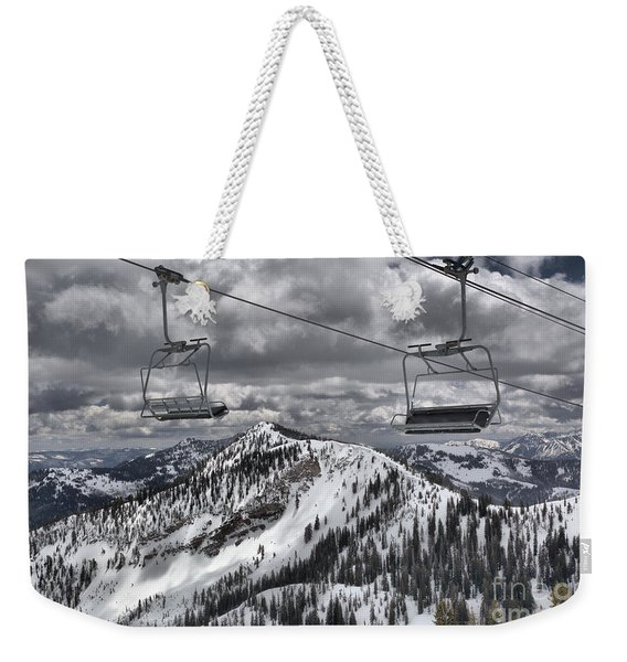 Baldy Chairs At Rest Weekender Tote Bag