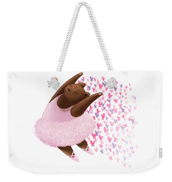 Ballet Bear Weekender Tote Bag