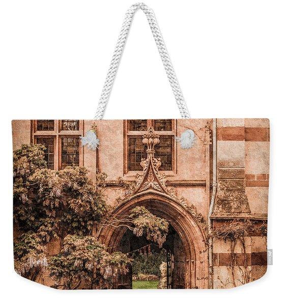 Oxford, England - Balliol Gate Weekender Tote Bag