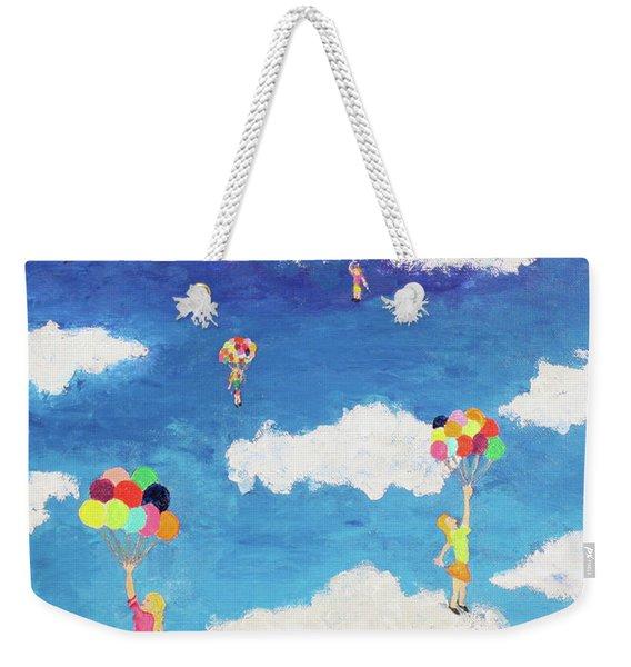 Balloon Girls Weekender Tote Bag