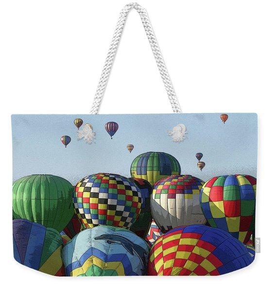 Balloon Traffic Jam Weekender Tote Bag