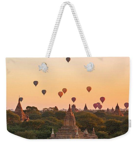 balloons over Bagan - Myanmar Weekender Tote Bag