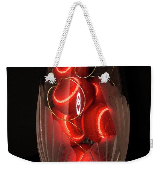 Balls In Crystal Vase Weekender Tote Bag