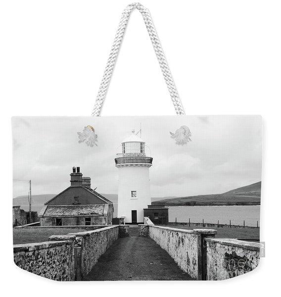 Ballyglass Lighthouse Mono Weekender Tote Bag