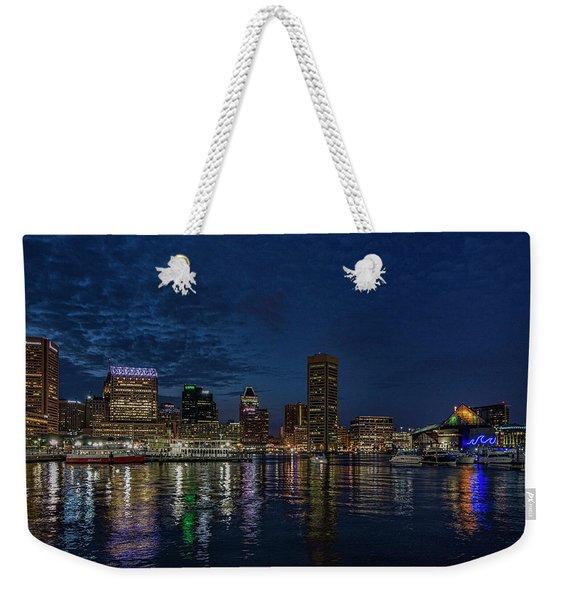 Baltimore Harbor Weekender Tote Bag