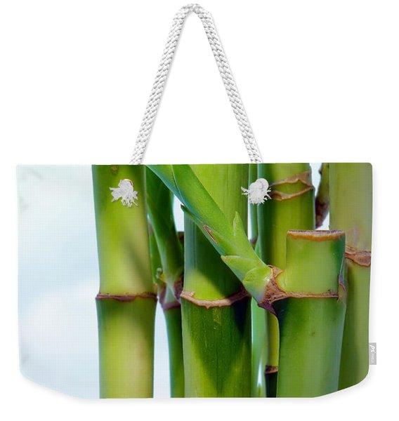 Bamboo And Sky Weekender Tote Bag