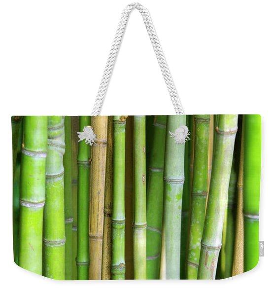 Bamboo Background Weekender Tote Bag