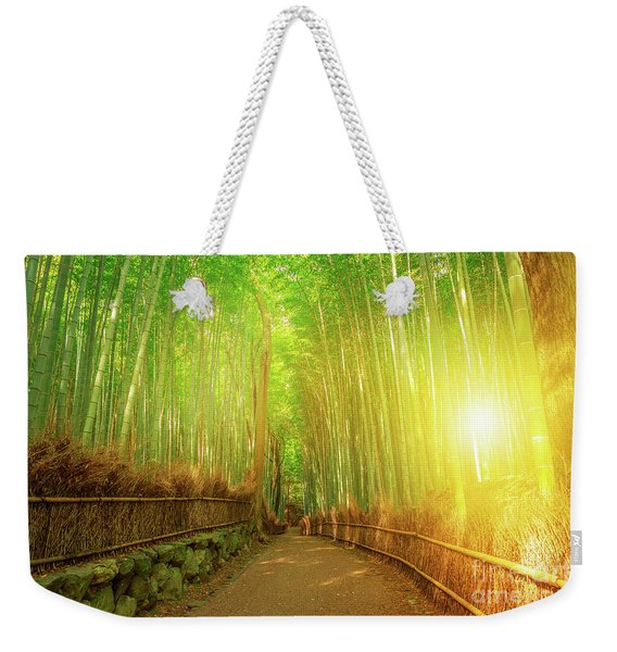 Weekender Tote Bag featuring the photograph Bamboo Grove Arashiyama Kyoto by Benny Marty