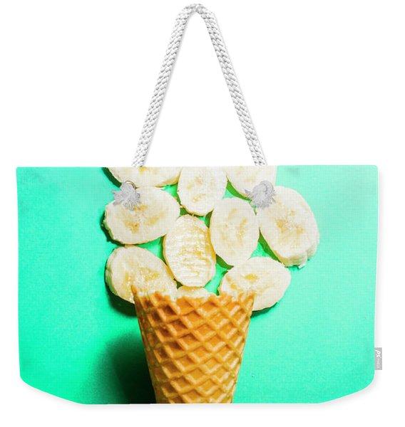 Bananas Over Sorbet Weekender Tote Bag