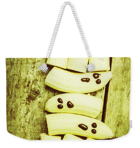 Bananas With Painted Chocolate Faces Weekender Tote Bag