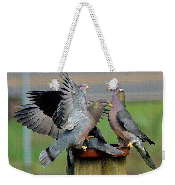 Band-tailed Pigeons #1 Weekender Tote Bag
