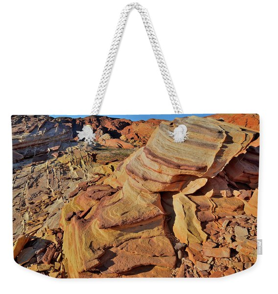 Bands Of Colorful Sandstone In Valley Of Fire Weekender Tote Bag