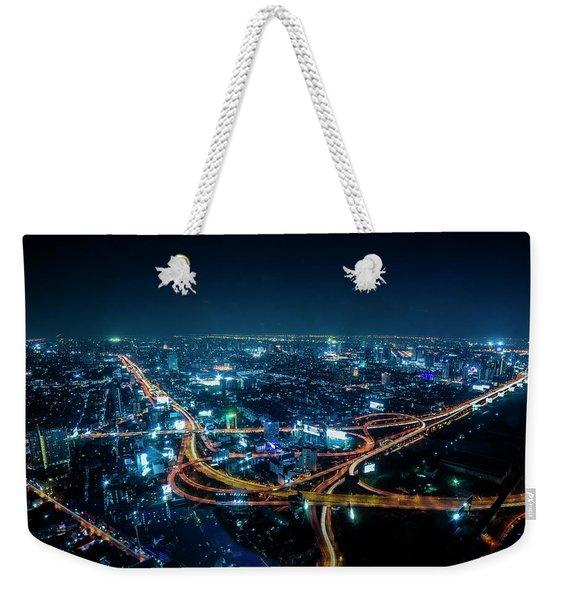 Bangkok Cityscape Weekender Tote Bag
