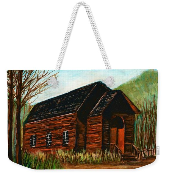 Bannack,montana Methodist Church  Weekender Tote Bag