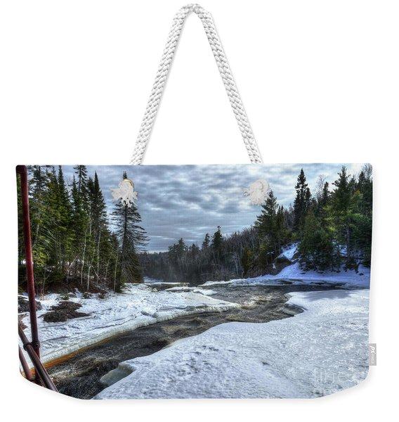 Baptism River Falls Tettegouche State Park Minnesota Weekender Tote Bag
