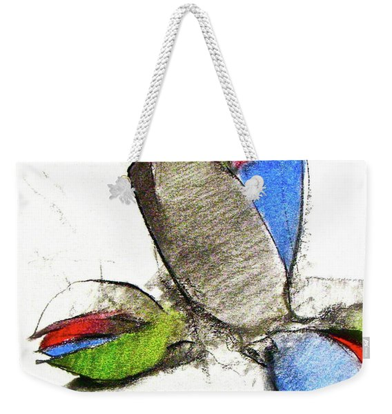 Weekender Tote Bag featuring the drawing Bar Nickle  by Cliff Spohn