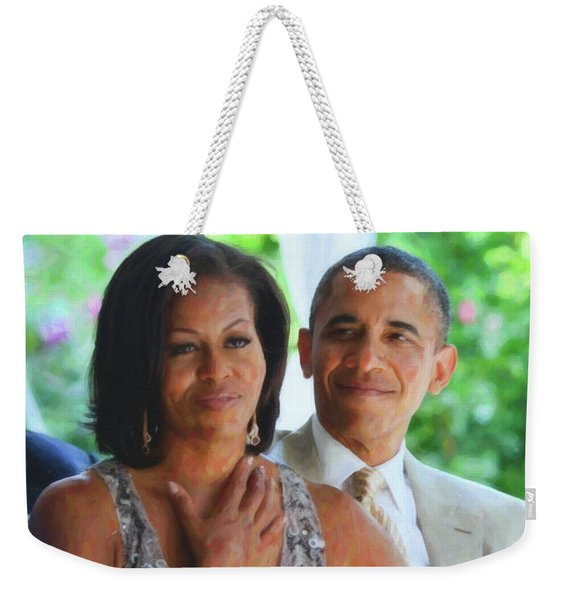 Barack And Michelle Obama Weekender Tote Bag